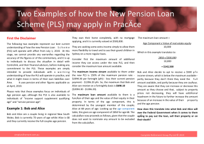2019 Pension Loan Scheme Examples